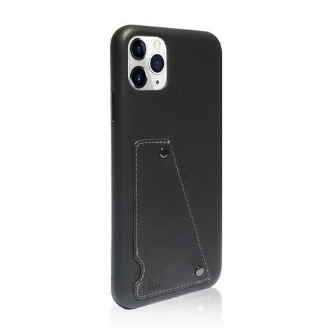 (Promo) Monocozzi Exquisite|Genuine Leather Shockproof back cover for iPhone 11 Pro Max - Charcoal