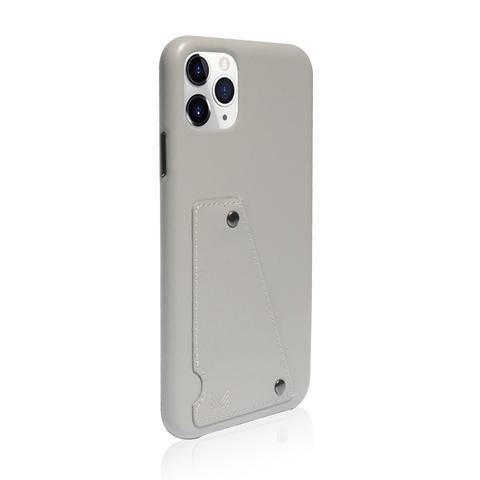 (Clearance) Monocozzi Exquisite|Genuine Leather Shockproof back cover for iPhone 11 Pro Max - Light Grey - Oribags.com