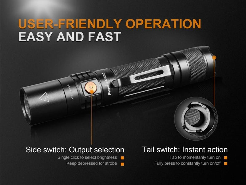 Fenix UC35 V2.0 LED Rechargeable Flashlight - Best EDC Flashlight - Oribags.com
