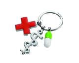 TROIKA Get Well Medical Charms Key Chain