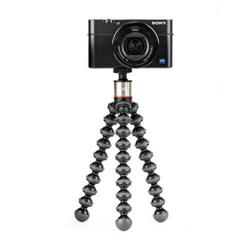 Joby GorillaPod 500 Compact Tripod Stand for Sub-compact Cameras, Point & Shoot and 360 Cams - Black/Charcoal