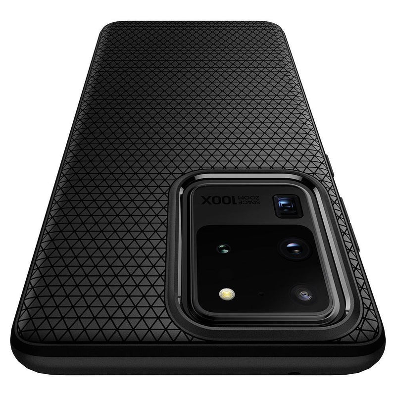 Spigen Samsung Galaxy S20 Ultra Case Liquid Air - Matte Black - Oribags.com