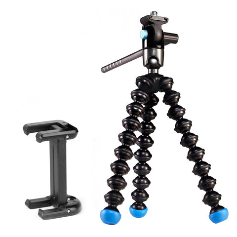 Joby GripTight Gorillapod Video For Smartphones - Black/Blue - oribags2 - 1