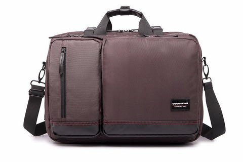 "BoomWave 3 Way Carry Convertible Series Business 15"" Laptop Bag CS003 - Brown (+FREE GIFT) - oribags2 - 2"