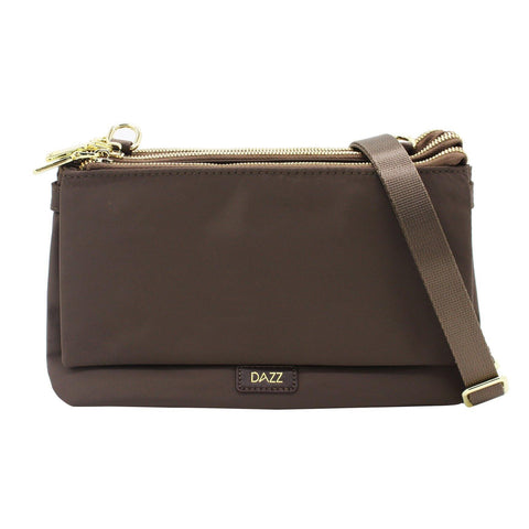Dazz On The Go Duo Sling Bag - Mink Brown