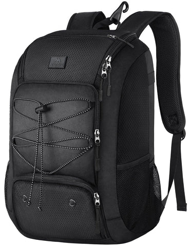 Matein Sports Backpack (Comes w/ Shoe Compartment) - Black