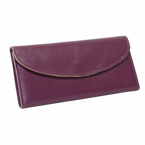 Dazz Calf Leather Simplicity Wallet - Pink