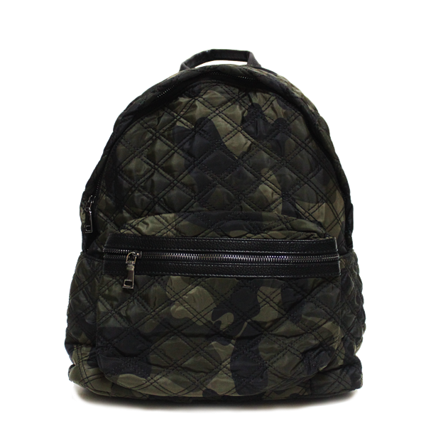 70292b1a3 Dazz Quilted Backpack - Army Print - Oribags.com