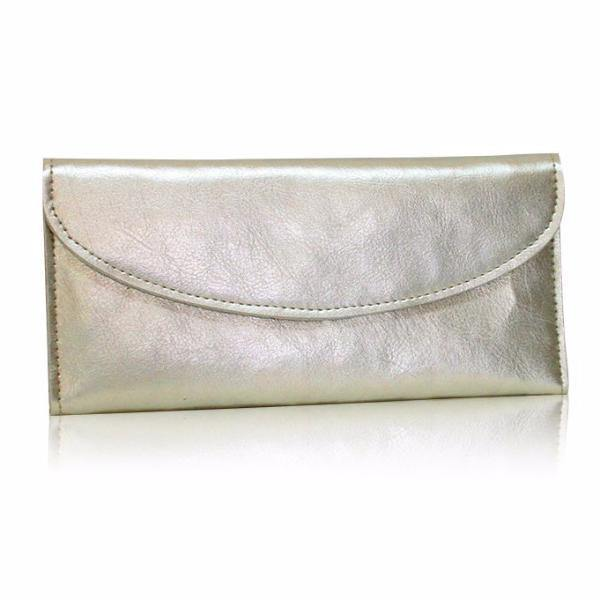 (Clearance) Dazz Calf Leather Simplicity Wallet - Gold - Oribags.com