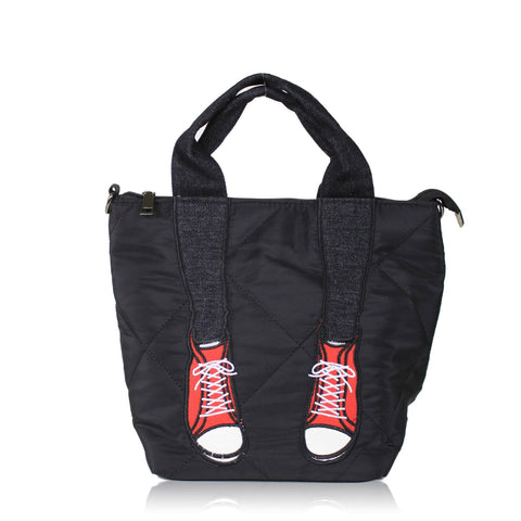 DAZZ SNEAKERS NYLON TOTE BAG - RED