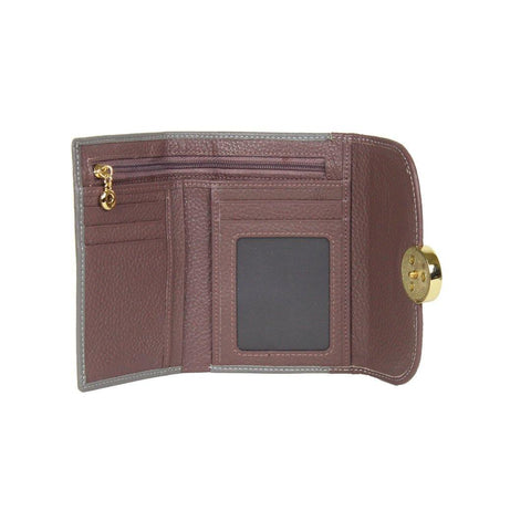 Dazz Calf Leather 2 Tone Wallet - Pink
