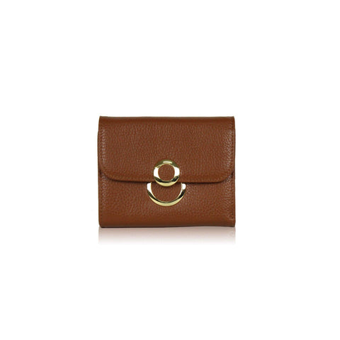 Dazz Calf Leather 8 Wallet - Brown