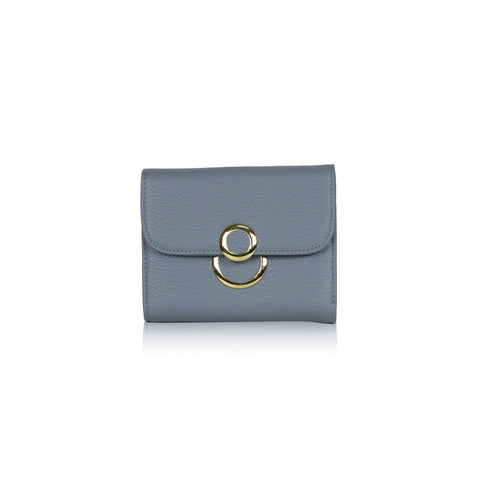 Dazz Calf Leather 8 Wallet - Blue