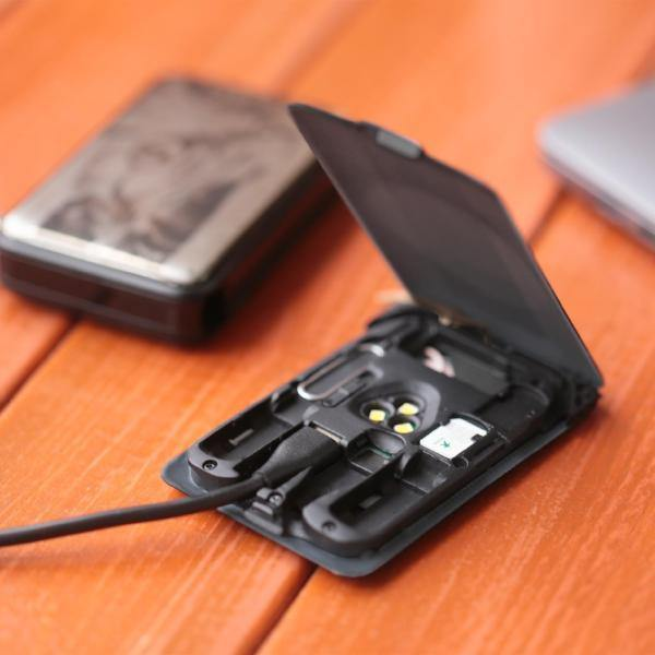 KableCARD Multi-functional Cable Essentials For Your Phone - Black - Oribags.com