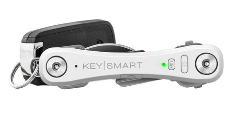 KeySmart Pro with Tile Smart Location Tracking Compact Key Holder - White