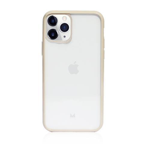 (Promo) Monocozzi LUCID|Acrylic Back Cover with Hybrid TPU Bumper for iPhone 11 Pro Max  - Beige