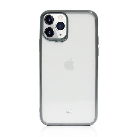 MONOCOZZI LUCID|Acrylic Back Cover with Hybrid TPU Bumper for iPhone 11 Pro Max  - Charcoal