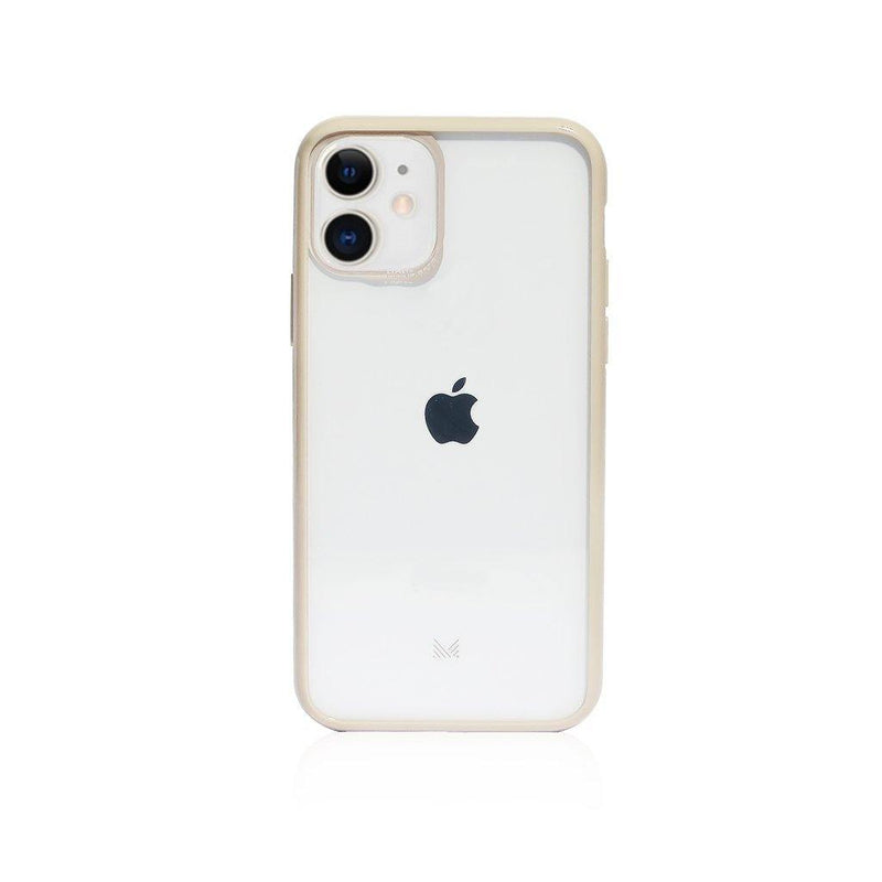 (Clearance) Monocozzi LUCID|Acrylic Back Cover with Hybrid TPU Bumper for iPhone 11  - Beige - Oribags.com
