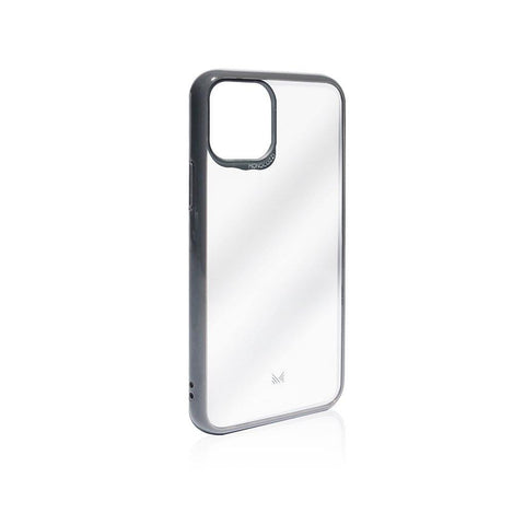 (Promo) Monocozzi LUCID|Acrylic Back Cover with Hybrid TPU Bumper for iPhone 11  - Charcoal