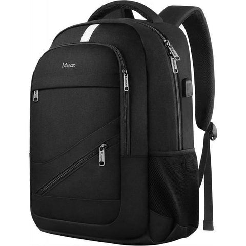 "Matein NTE Anti-Theft Laptop Backpack w/ Charging Port (Fits Up to 15.6"") - Black"