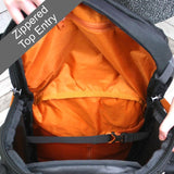 LOWE ALPINE Travel Trekker 70+30L Backpack - Black/Orange
