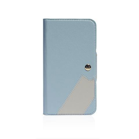 (Clearance) Monocozzi Lucid Folio|Premium Vegan Leather Wallet with detachable Snap-on Back cover for iPhone 11 - Blue - Oribags.com