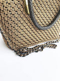 Livlola Mini Crochet Crossbody Tote - Brown