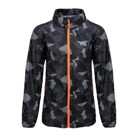 MAC IN A SAC Edition Unisex Waterproof Packable Jacket - Black Camo