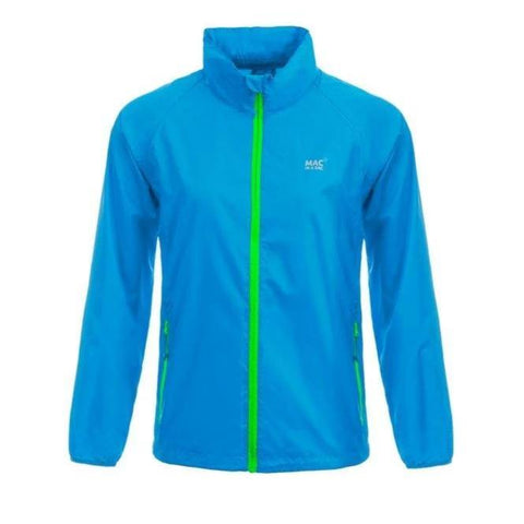 MAC IN A SAC Neon Unisex Waterproof Packable Jacket - Blue