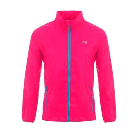 MAC IN A SAC Neon Unisex Waterproof Packable Jacket - Pink
