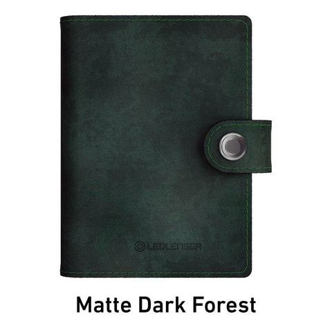 Ledlenser Lite Wallet RFID Protection (Paired with 150-lumen LED) - Matte Dark Forest
