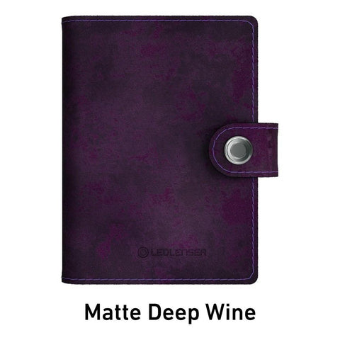 Ledlenser Lite Wallet RFID Protection (Paired with 150-lumen LED) - Matte Deep Wine