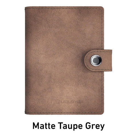 Ledlenser Lite Wallet RFID Protection (Paired with 150-lumen LED) - Matte Taupe Grey