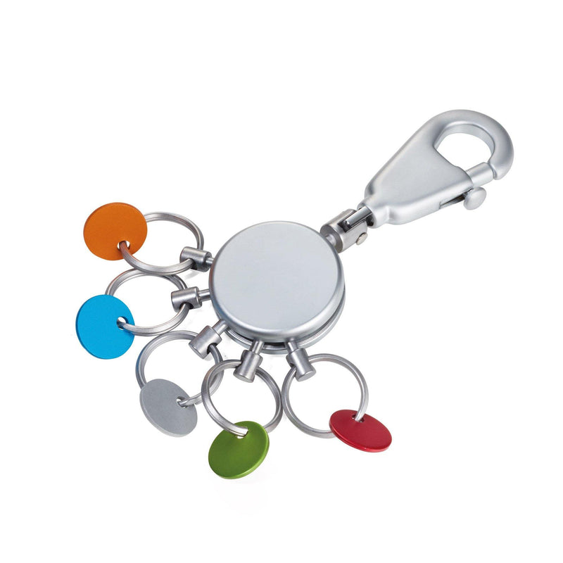 Troika Multicolored Patent Key Holder - 5 Rings - Oribags.com
