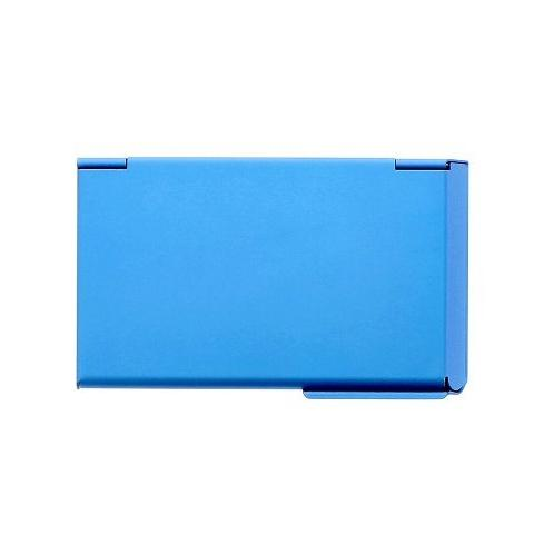 Ogon One Touch Business Card Holder - Blue