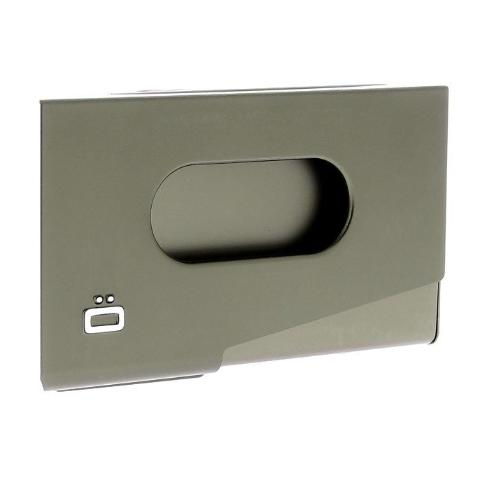 Ogon One Touch Business Card Holder - Dark Grey