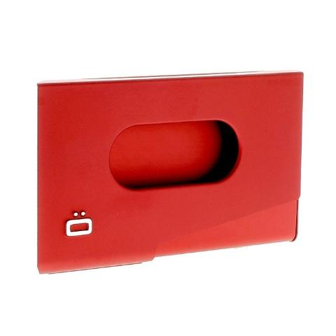Ogon One Touch Business Card Holder - Red