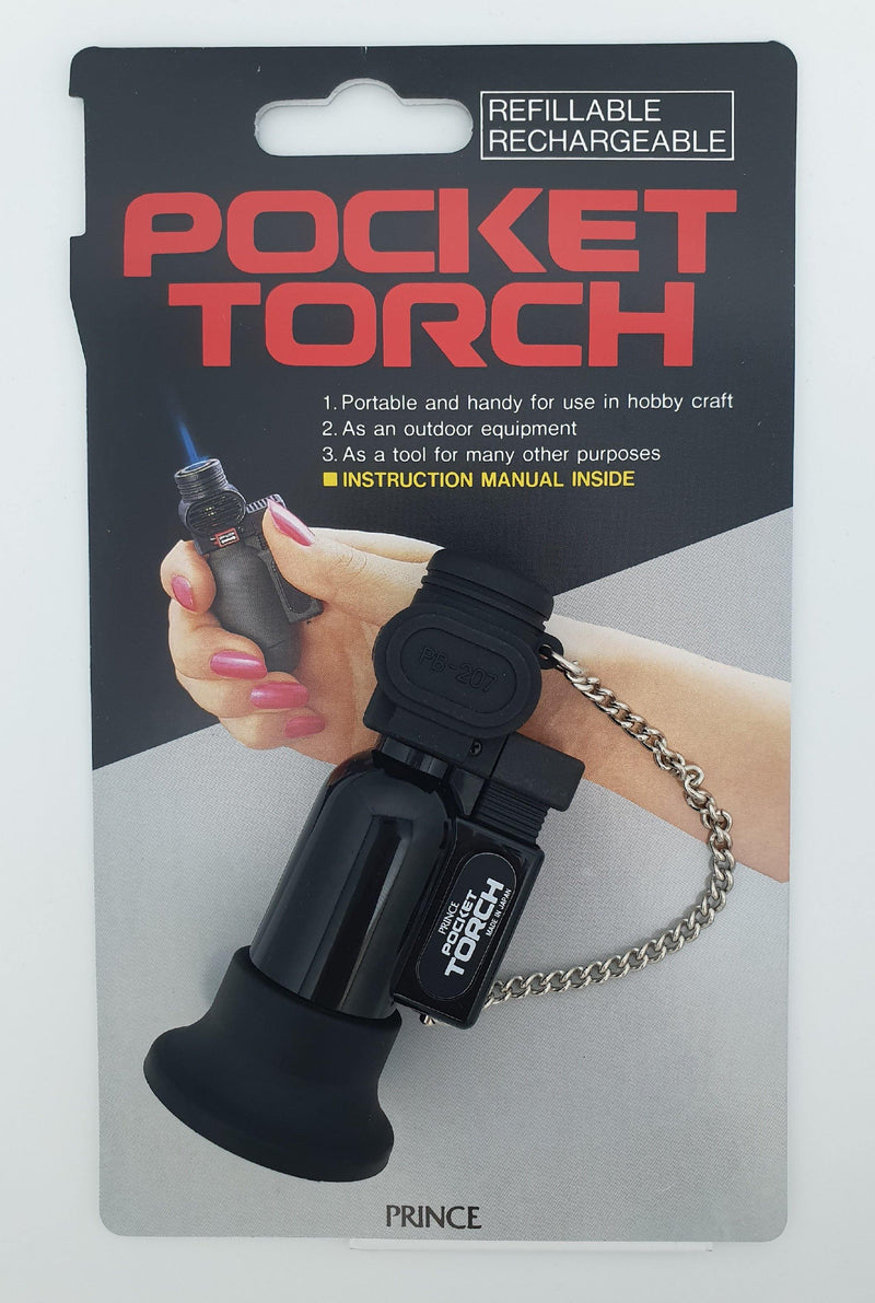 Prince PB-207 Jet Flame Lighter - Black - Oribags.com