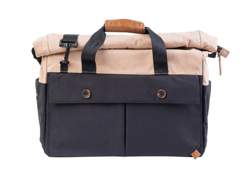 PKG DRI Wingman Plus Briefcase - Black/Tan