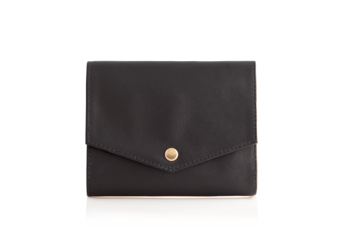 Mule Palm Leather RFID Slim Wallet - Black
