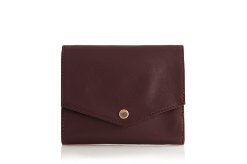 Mule Palm Leather RFID Slim Wallet - Ox Blood