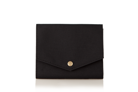 Mule Palm Nylon RFID Women Slim Wallet - Black