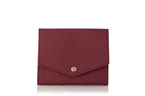 Mule Palm Nylon RFID Women Slim Wallet - Ox Blood