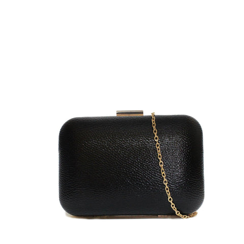 Dazz Patent Evening Clutch - Black
