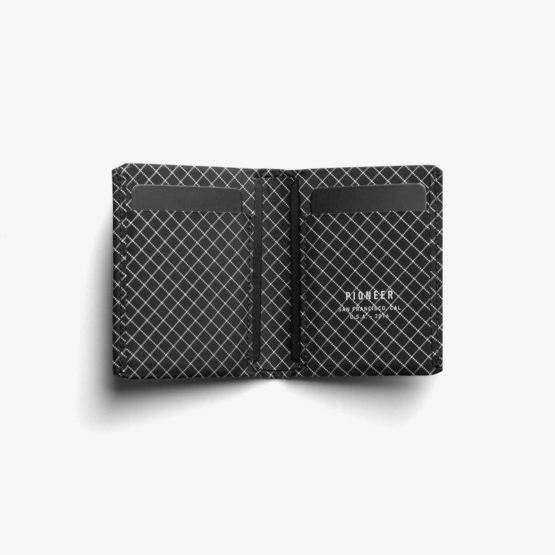 Pioneer Carry Matter Bi-Fold Wallet - Black - Oribags.com