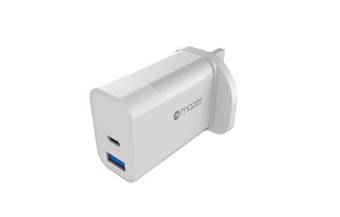 MAZER POWER.BOOST Mini.Duo PD18W + QC3.0 Wall Charger - White