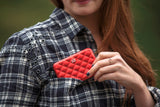 Ogon Quilted Button Card Holder RFID Safe - Red