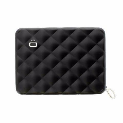 Ogon Quilted Passport Wallet RFID Safe - Black