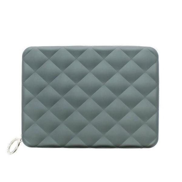 (Clearance) Ogon Quilted Passport Wallet RFID Safe - Platinum