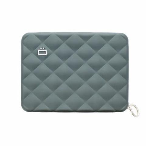 Ogon Quilted Passport Wallet RFID Safe - Platinum